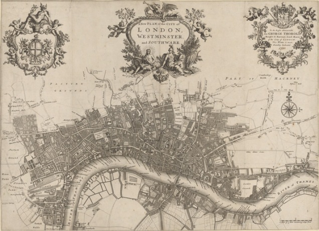 John Strype 'A new plan of the city of London, Westminster and Southwark' 1720