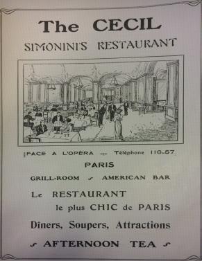 simoninis restaurant paris chic advert