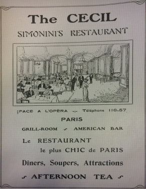 simoninis restaurant paris chic advert