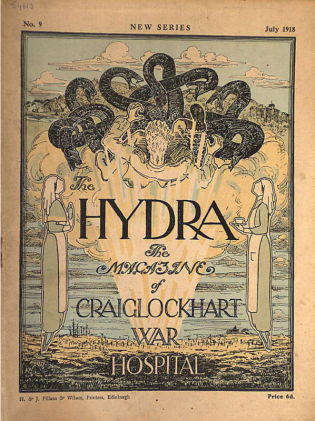 The Hydra, the magazine produced by the patients of Craiglockhart War Hospital, dated July 1918